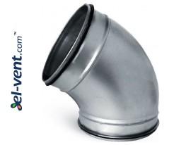 Elbow EAG125/60, Ø125 mm, 60°