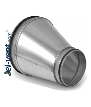 Asymmetric reducer EARG160/100, Ø160-100 mm