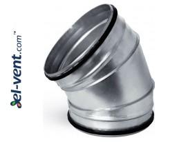Elbow EAGS250/45, Ø250 mm, 45°
