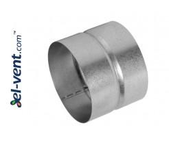 External coupling for ventilation EMOI080, Ø80 mm
