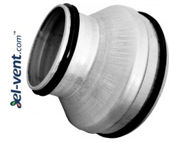 Symmetrical reducers for ducts RG