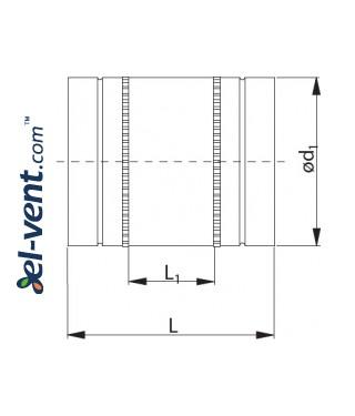 External flexible coupling EMOL250 Ø250 mm - drawing