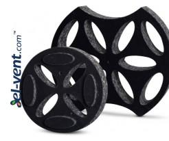 Polyurethane damper for noise suppression and air flow control RSKS100, Ø100 mm