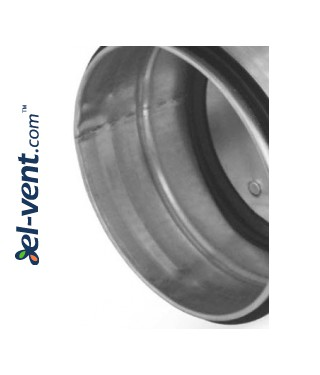 Airtight damper for ductwork RSKH100, Ø100 mm - sealing