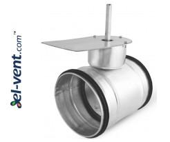 Hermetic air damper for electric drive SEPG250, Ø250 mm