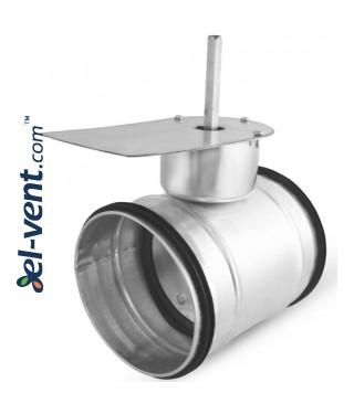 Hermetic air damper for electric drive SEPG100, Ø100 mm