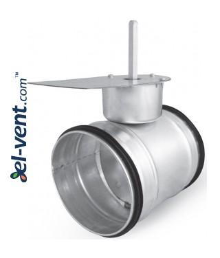 Air damper for electric drive SEPG160, Ø160 mm