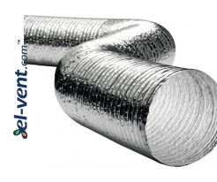 Flexible aluminium-polyester ducts