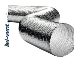 Aliuminio-poliesterio lankstus ortakis AFL125, Ø125 mm