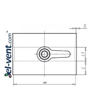 Воздушные клапаны для пластиковых каналов POR - чертеж