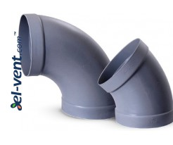 45° plastic ducts elbows PO45