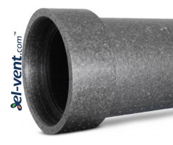 Expanded polypropylene duct with coupling EPP125/05, Ø125 mm, L=0.5 m