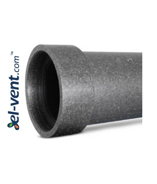 Expanded polypropylene duct with coupling EPP125/10, Ø125 mm, L=1.0 m