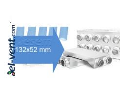 132x52 mm semi-rigid flat duct system
