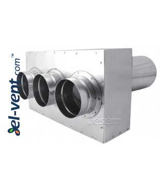 Air distribution box for rigid duct system OSC63