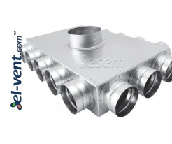 Air distributors for semi-rigid vent system OSD63