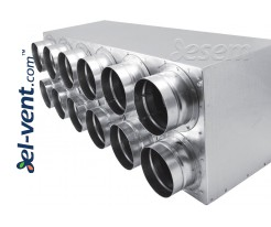 Air distributors for semi-rigid vent system OSG63