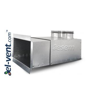 Ventiliacijos grotelių dėžutės lanksčių ortakių sistemai OSH75/2/200x100