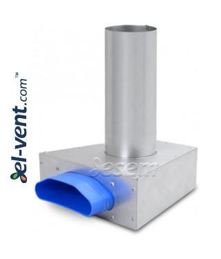 Присоединительные коробки диффузоров для гибкой системы воздуховодов OSPB