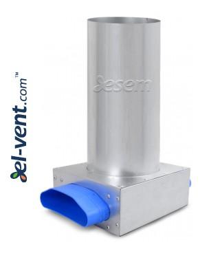 Difuzoriaus dėžutės lanksčių ortakių sistemai OSPC