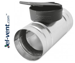 Air flow control valves for HDPE rigid ducts