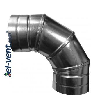 Elbow A90/90, Ø90 mm, 90°