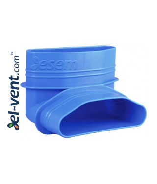 Vertical elbow for HDPE ducts MOV90/132/52 132x52 mm