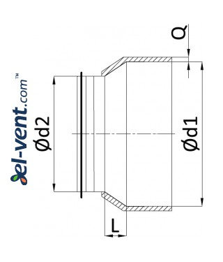 Insulated reducers IRGI - drawing