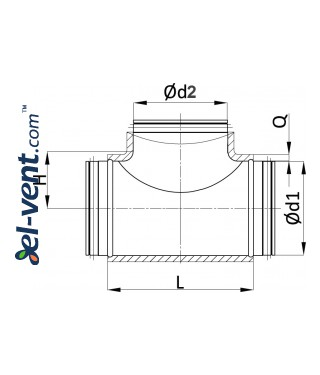 Insulated T pieces ITTG - drawing