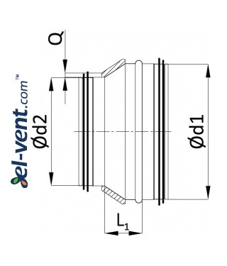Insulated reducers IRG - drawing