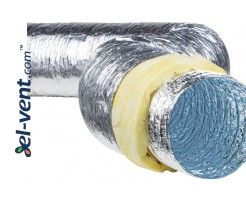 Insulated duct SL-100-10, Ø100 mm, 10 m, 120 °C