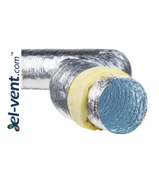 Insulated duct SL-125-10, Ø125 mm, 10 m, 120 °C
