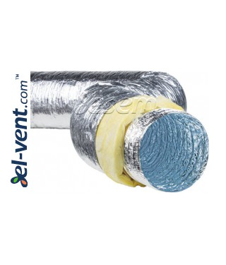 Insulated flexible duct ISO-SL, 10 m, 120 °C