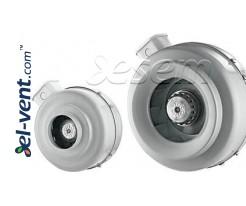 Išcentriniai kanaliniai ventiliatoriai DV ≤1450 m³/h