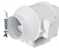 Kanalinis ventiliatorius DVPP125, Ø125 mm
