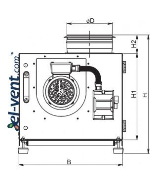 Kitchen fans EFT120≤5236 m³/h - drawing 1