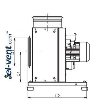 Kitchen fans EFT120 ≤5236 m³/h - drawing 2