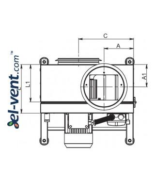Kitchen fans EFT120 ≤5236 m³/h - drawing 3