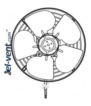 Duct fan WK250, Ø260 mm - Front view