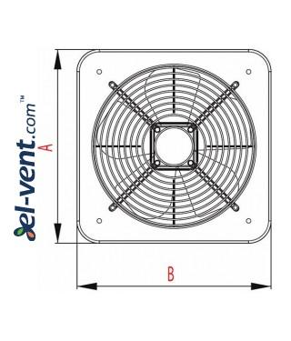 Axial fan WOC320, Ø320 mm - drawing