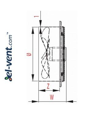 Axial fan WOC320, Ø320 mm - drawing 3