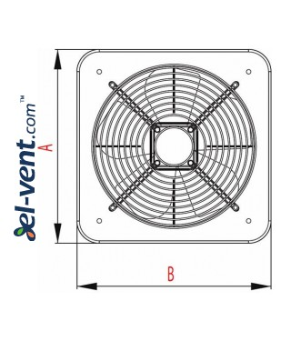 Axial fan WOC210, Ø210 mm - drawing