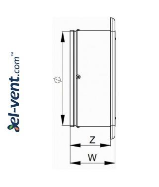 Axial fan WO250, Ø250 mm - drawing 2