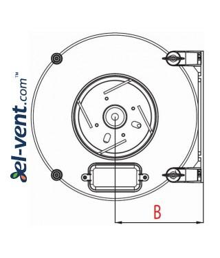 Duct fan WP150/160, Ø150-160 mm - drawing