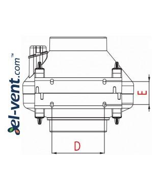 Duct fan WP150/160, Ø150-160 mm - drawing 2