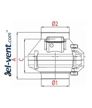 Duct fan WP150/160, Ø150-160 mm - drawing 3