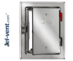 Insulated chimney access doors from inox 140x205 mm RDN140/205
