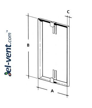V2A - stainless steel tile frames - drawing