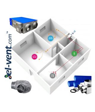 Heat recovery ventilation system REC-ERGO
