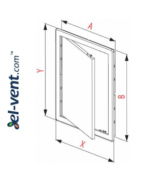 Access panel, oak colour EDT14D, 200x300 mm - drawing